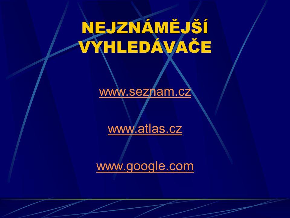 ZPRAVODAJSKÉ SERVERY www.novinky.cz www.idnes.cz www.denik.cz www.lidovky.cz