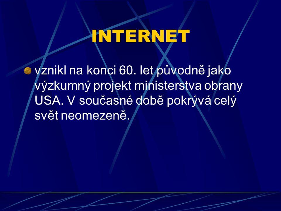 SERVER jedná se o zařízení pro zpracování dat uvnitř sítě a tedy i internetu, která jsou určena pro poskytování služeb počítačům připojených uživatelů, tzv.