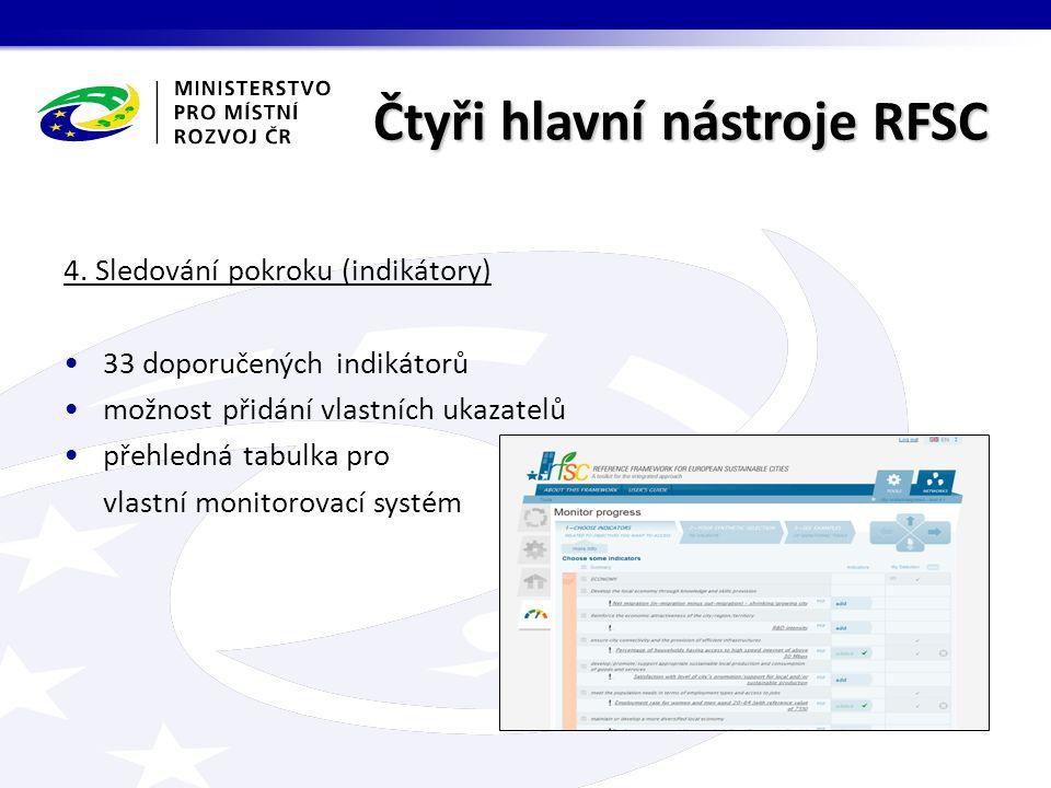 Čtyři hlavní nástroje RFSC 4.