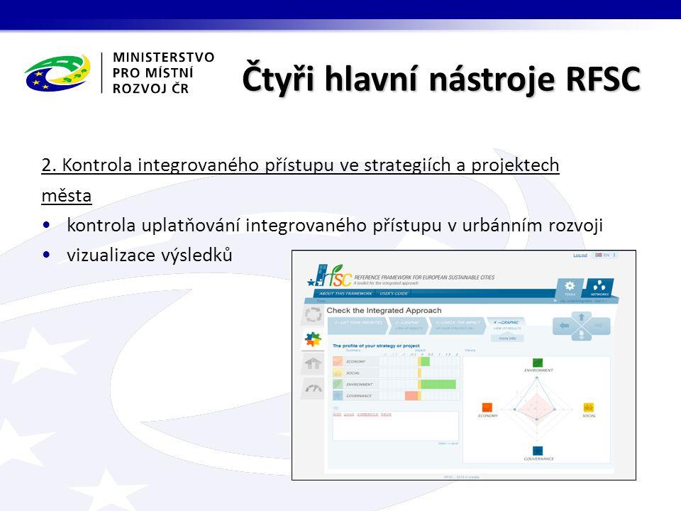 Čtyři hlavní nástroje RFSC 2.
