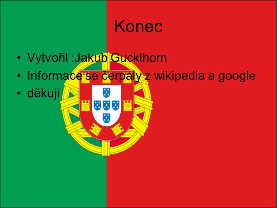 Konec Vytvořil :Jakub Gucklhorn Informace se čerpaly z wikipedia a google děkuji
