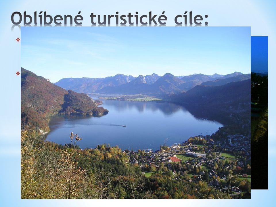 * Do země ročně přijíždí mnohem více turistu než je počet obyvatel Rakouska. Lákají je Alpy s neporušenou přírodou, krásná jezera a vybavená sportovní