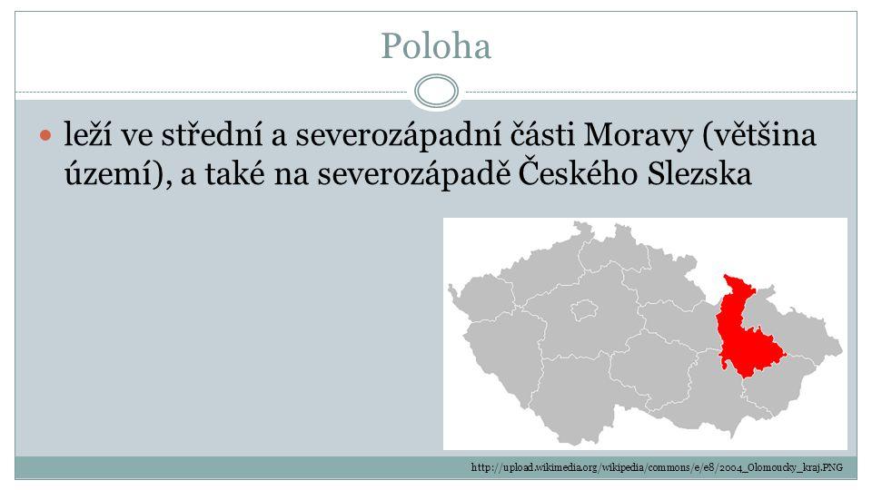 Poloha leží ve střední a severozápadní části Moravy (většina území), a také na severozápadě Českého Slezska http://upload.wikimedia.org/wikipedia/comm