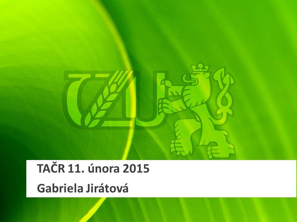 TAČR 11. února 2015 Gabriela Jirátová