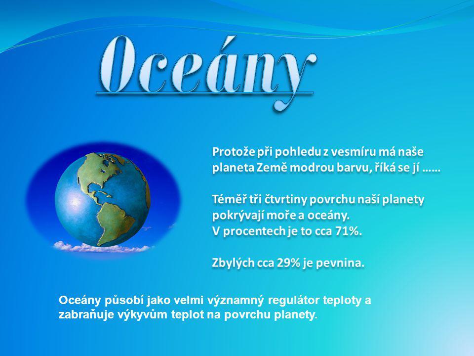 Oceány - seznámení s polohou a rozlohou-