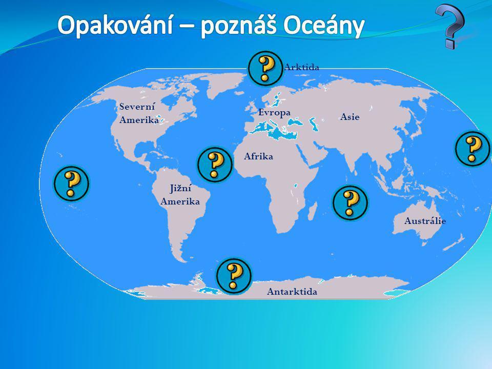 Doplň slova ze závorky do vět a věty přepiš do sešitu. OCEÁNY Světový oceán pokrývá tři čtvrtiny povrchu naší __________. Tvoří ho 5 oceánů : Tichý, A