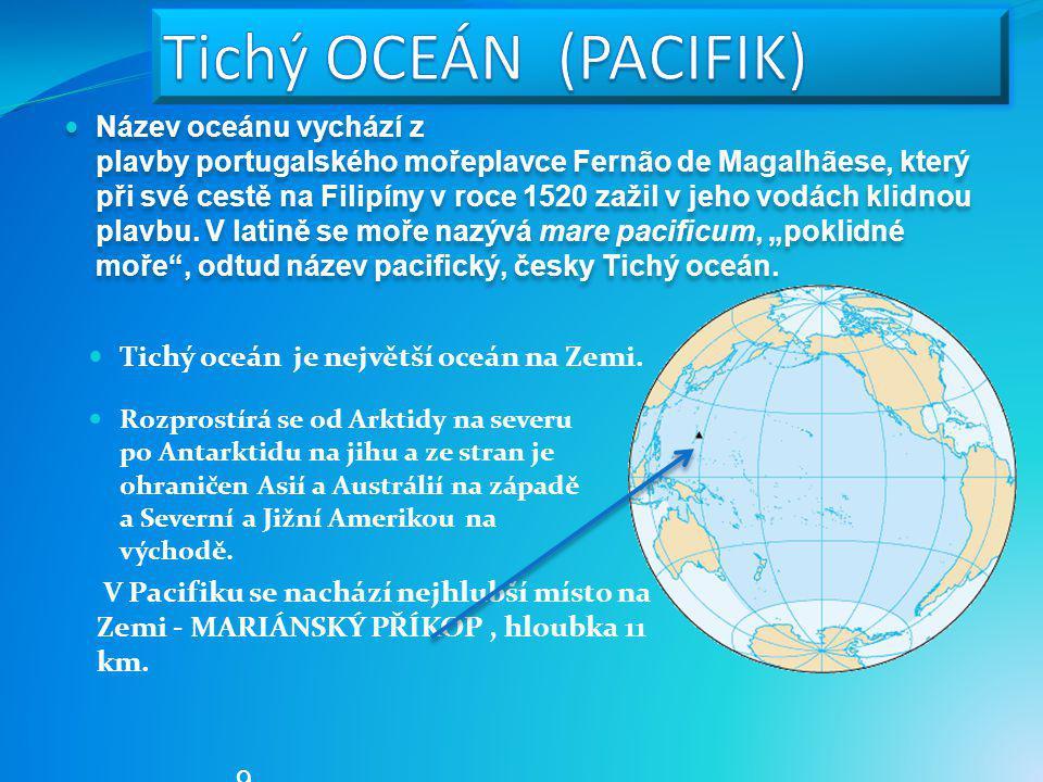 Oceán Rozloha (mil. km²) Tichý oceán 155,557 Atlantský oceán 76,762 Indický oceán 68,556 Jižní oceán 20,327 Severní ledový oceán 14,056 EU OPVK – III/