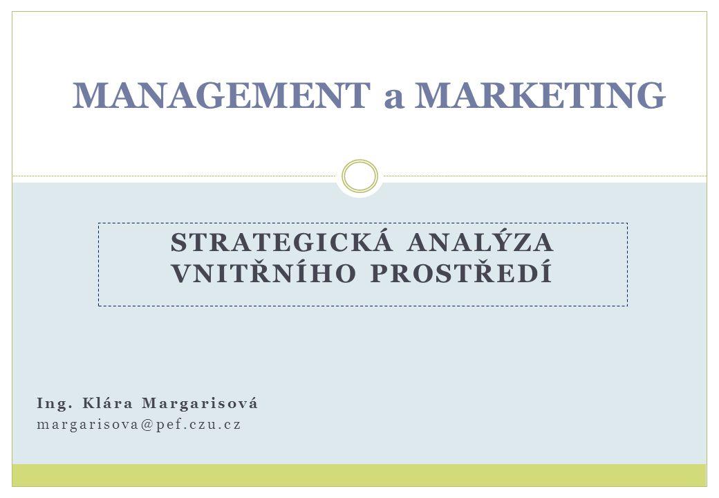 MATICE BCG Poskytuje rámcový a syntetický pohled na portfolio trhů a výrobků podniku.