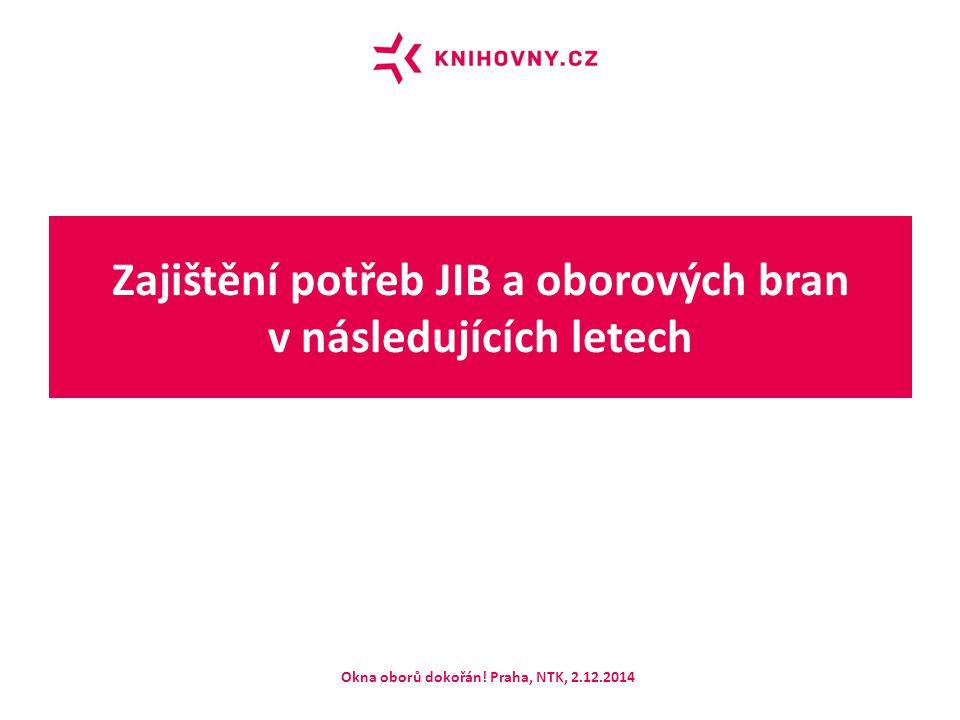 Zajištění potřeb JIB a oborových bran v následujících letech Okna oborů dokořán! Praha, NTK, 2.12.2014