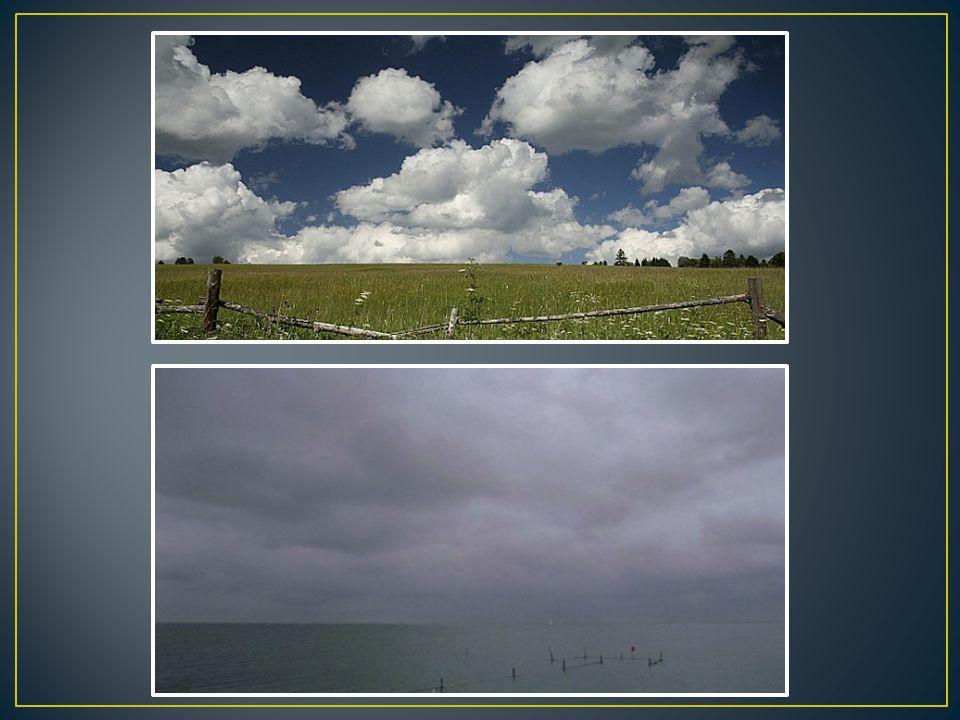 Oblačnost pokrývá oblohu: jasno, polojasno, oblačno, zataženo.