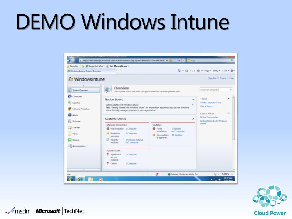 DEMO Windows Intune