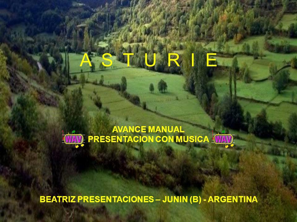 A S T U R I E BEATRIZ PRESENTACIONES – JUNIN (B) - ARGENTINA AVANCE MANUAL PRESENTACION CON MUSICA
