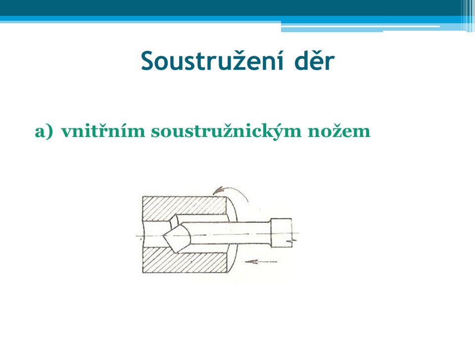 Soustružení děr a)vnitřním soustružnickým nožem