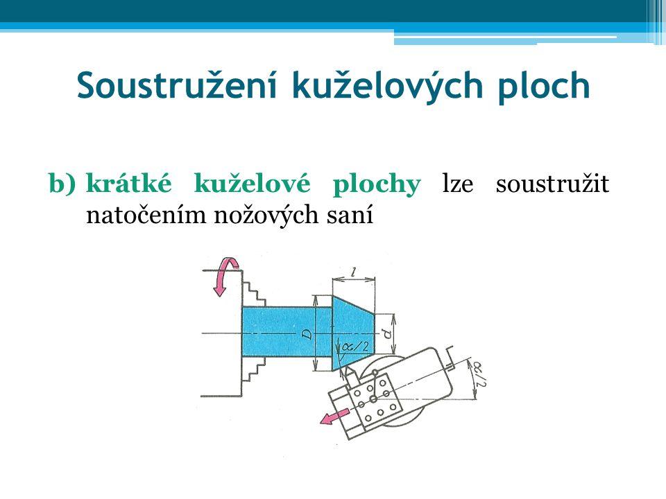 Soustružení kuželových ploch c)dlouhé kužele soustružíme vyosením koníku