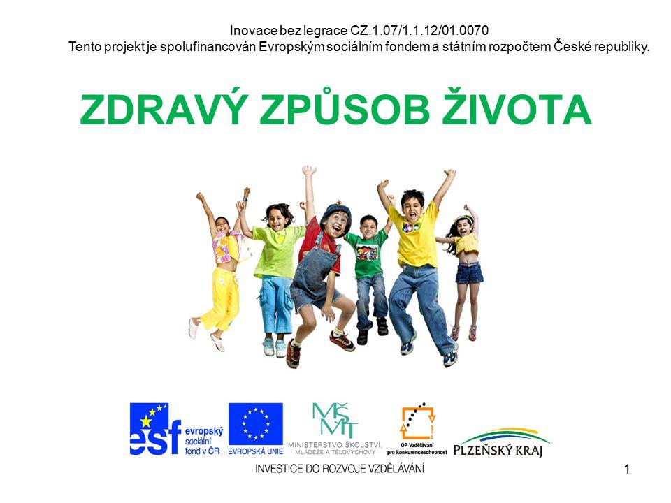 Inovace bez legrace CZ.1.07/1.1.12/01.0070 Tento projekt je spolufinancován Evropským sociálním fondem a státním rozpočtem České republiky. ZDRAVÝ ZPŮ