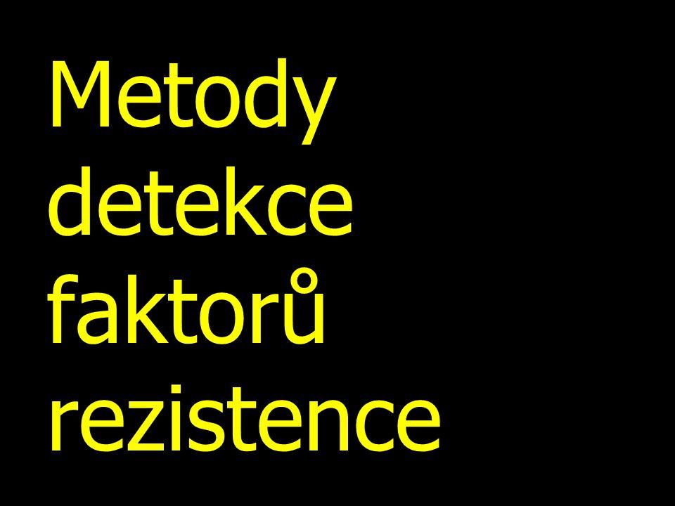 Metody detekce faktorů rezistence