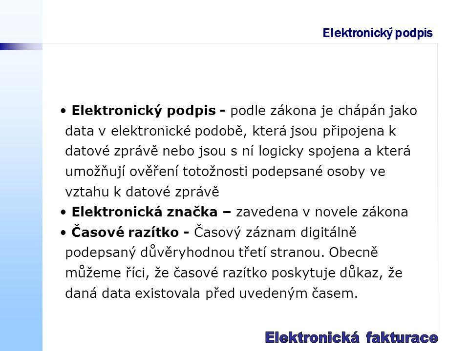 Stav elektronické fakturace v ČR Pouze 17% firem uvádí, že využívají elektronické fakturace (převzato z výsledků šetření Sdruženi pro Informační Společnost, SPIS).