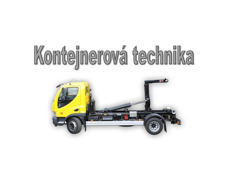 Kontejnerová technika Kontejnery:  ekonomický způsob přepravy  efektivní způsob využití vozidla (nosiče kontejneru)  různé typy podle použití  robustní odolné konstrukce