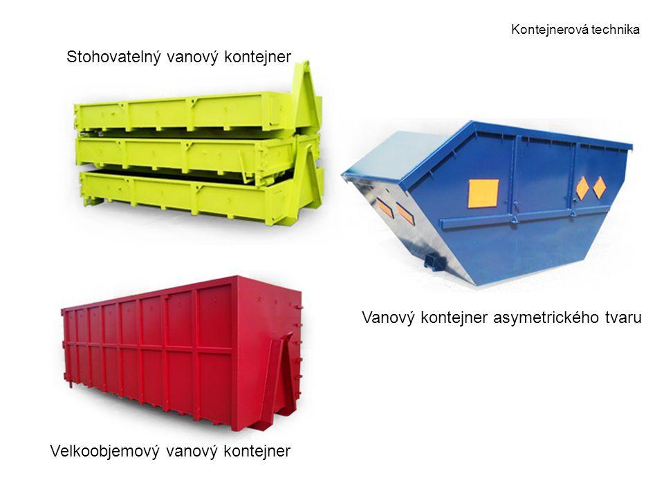Kontejnerová technika Stohovatelný vanový kontejner Vanový kontejner asymetrického tvaru Velkoobjemový vanový kontejner