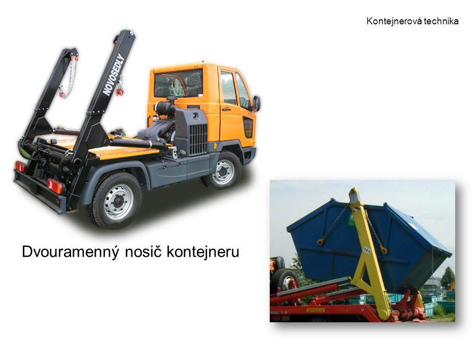 Kontejnerová technika Dvouramenný nosič kontejneru