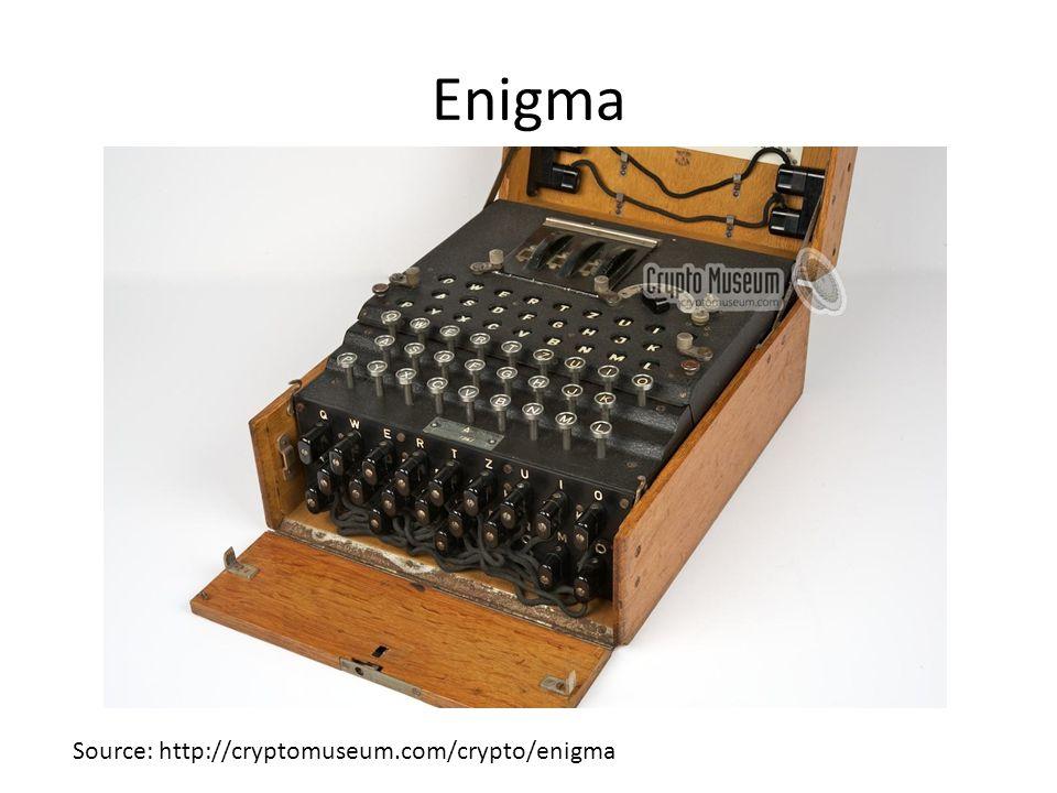 Enigma Source: http://cryptomuseum.com/crypto/enigma