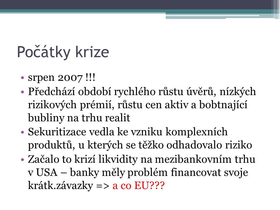 Počátky krize srpen 2007 !!.