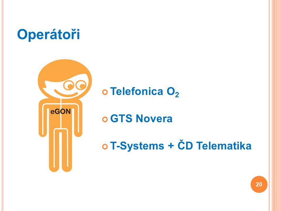 Operátoři Telefonica O 2 GTS Novera T-Systems + ČD Telematika 20