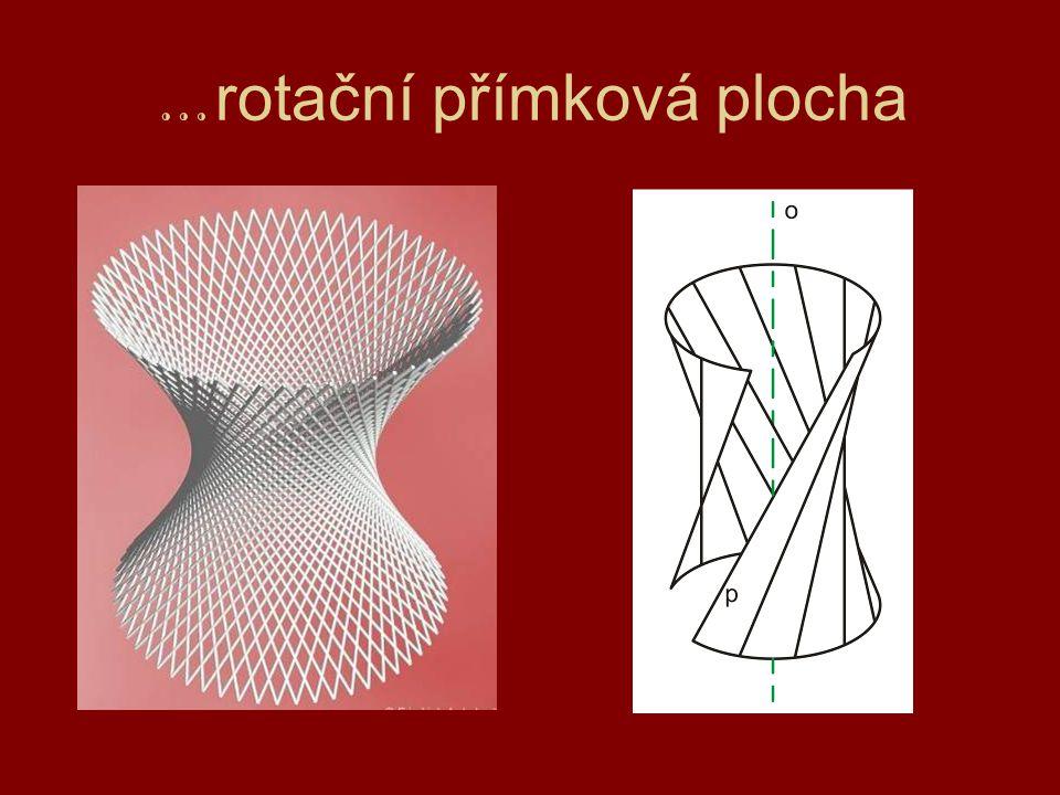 … rotační přímková plocha
