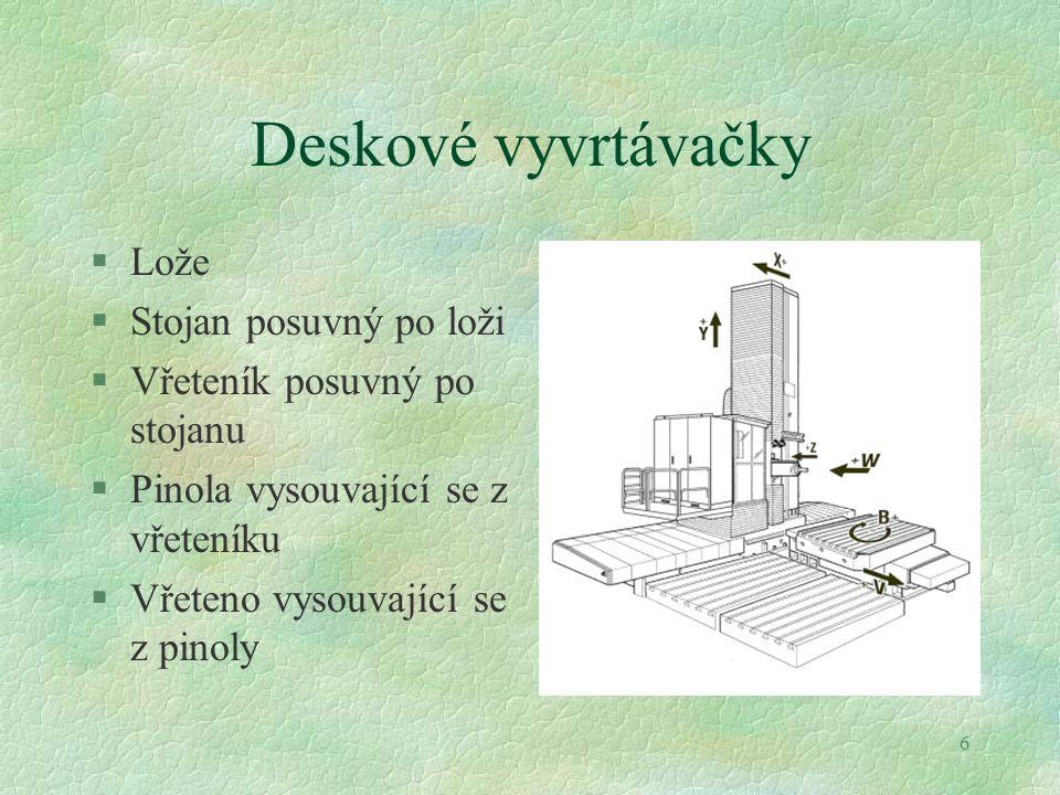37 Hrotové brusky §Rám Lože (6) Stůl, unášecí vřeteník a koník (5,3,4) Brousicí vřeteník, zadní lože (1,2)