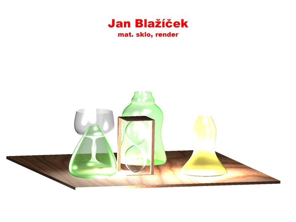 Jan Jindříšek uč. rotační tělesa, materiály, světla, render