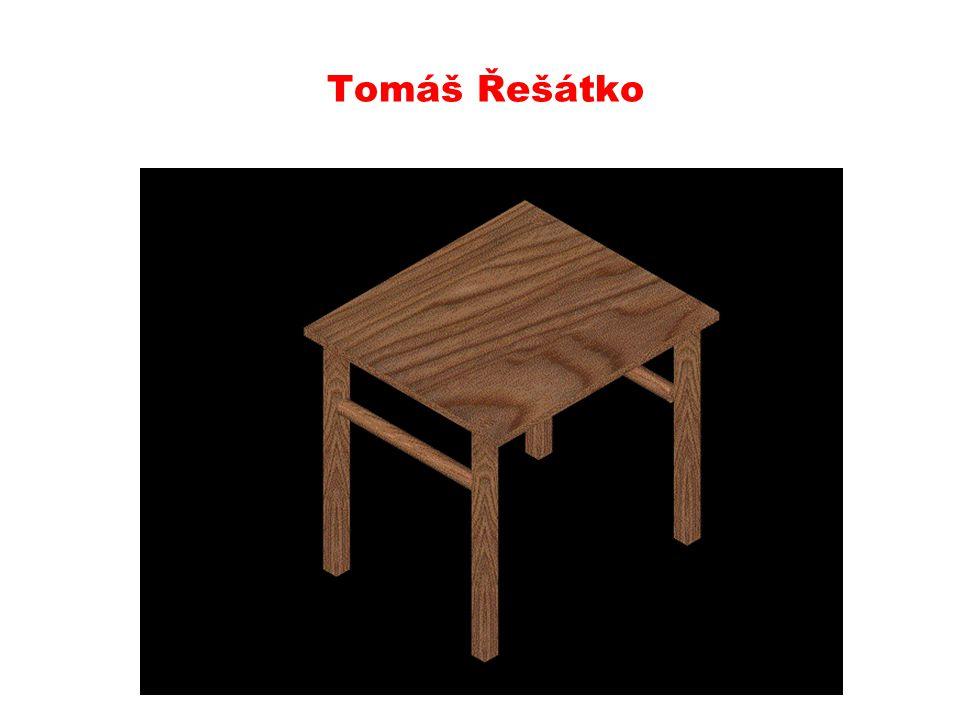 Lukáš Sobotka uč. kvádr, pole, materiál dřevo, render