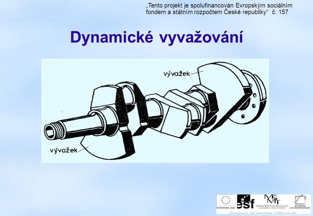 """Dynamické vyvažování """"Tento projekt je spolufinancován Evropským sociálním fondem a státním rozpočtem České republiky"""" č. 157"""