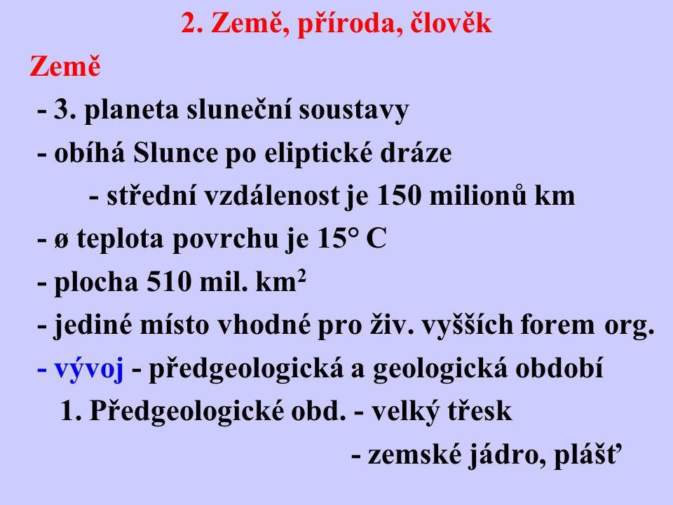 2.Před 4 mld. lety - litosféra 3.