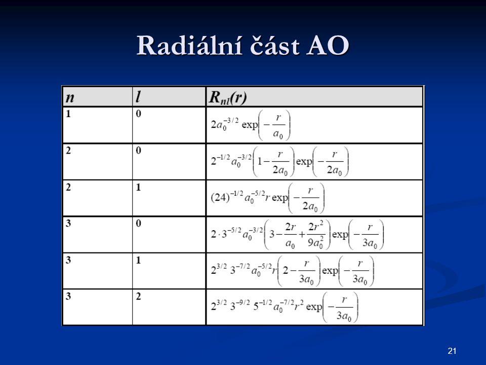 21 Radiální část AO