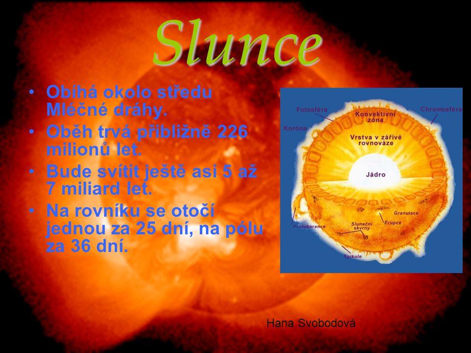 Merkur Nejmenší planeta sluneční soustavy Povrch je pokrytý především krátery Rotační doba planety je 59 dnů Sondy na Merkuru:  Mariner 10  Messenger Na rok 2014 plánuje Evropa spolu s Japonci start sondy BepiColombo Petra Horká