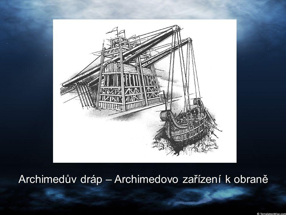 Archimedův dráp – Archimedovo zařízení k obraně