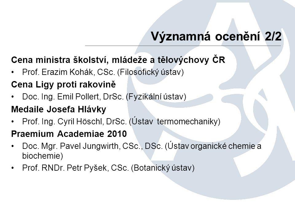 Cena ministra školství, mládeže a tělovýchovy ČR Prof.