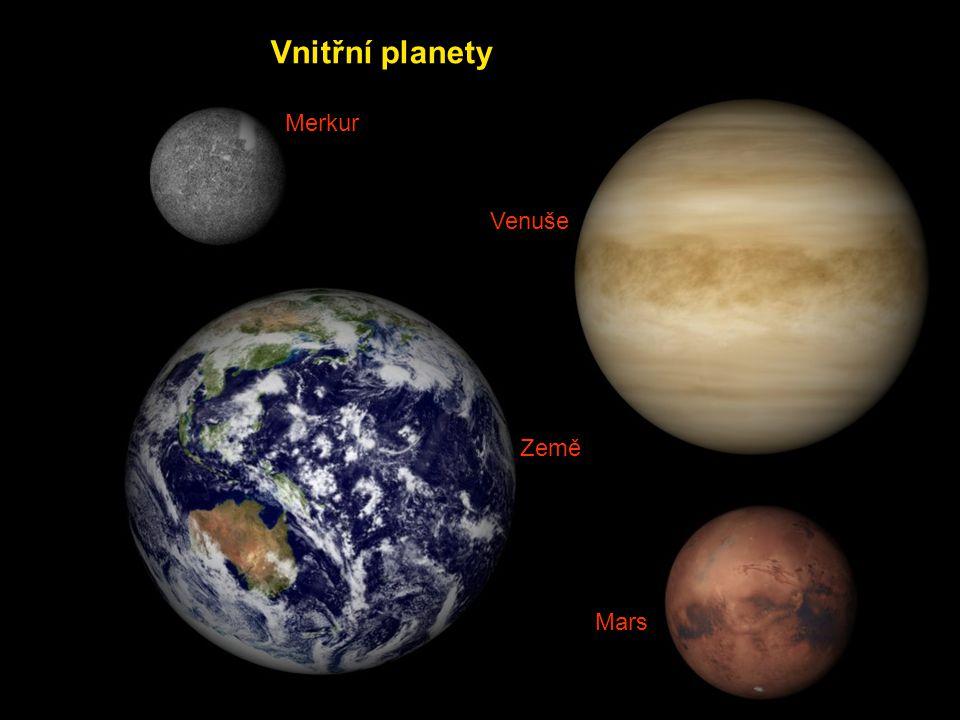 Merkur Venuše Země Mars Vnitřní planety