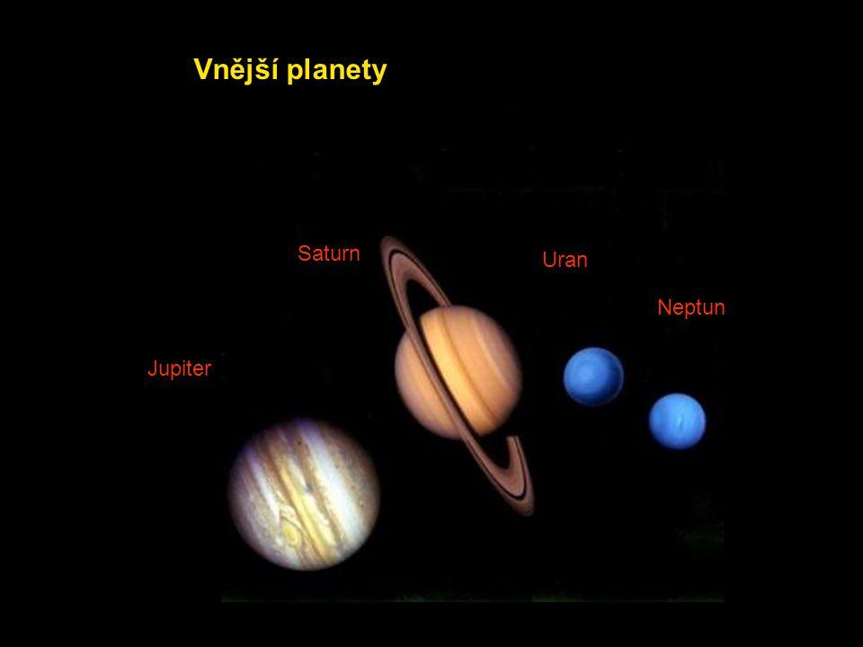 Jupiter Saturn Uran Neptun Vnější planety