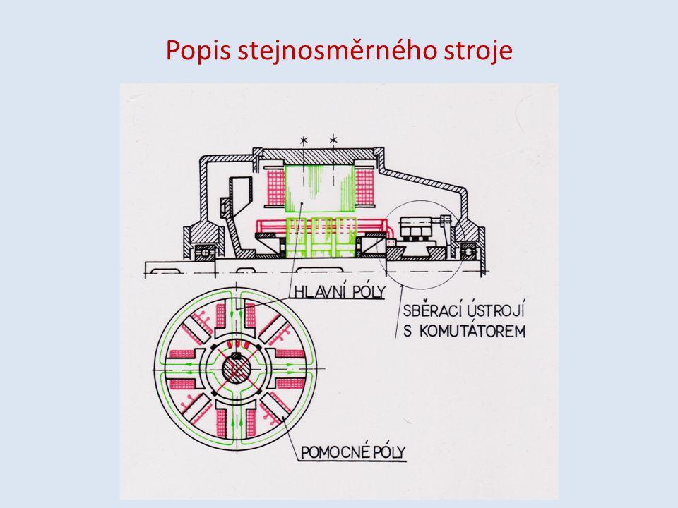 Stator stejnosměrného stroje tvoří kostra z plného železa, která se přímo využívá k vedení magnetického toku.