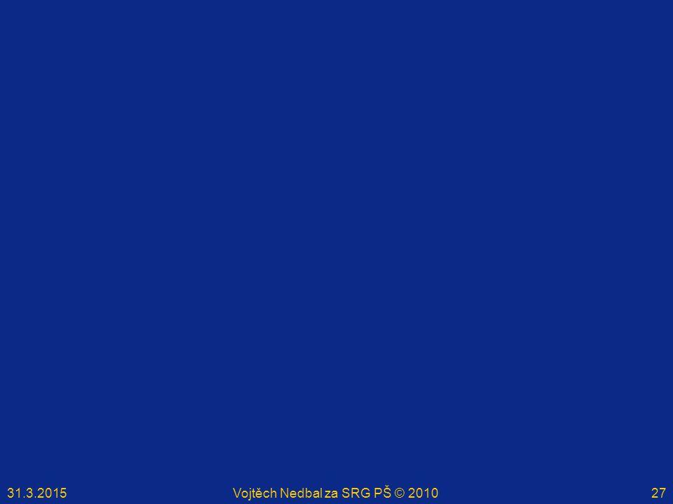 31.3.2015Vojtěch Nedbal za SRG PŠ © 201027