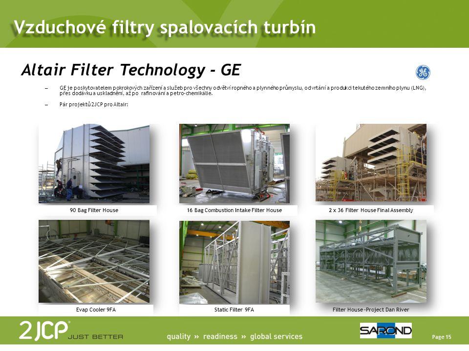 Page 15 90 Bag Filter House16 Bag Combustion Intake Filter House2 x 36 Filter House Final Assembly Evap Cooler 9FAStatic Filter 9FAFilter House –Proje