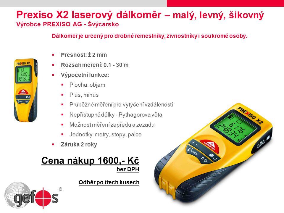 Leica DISTO™ D8 – Features Bluetooth® Přednosti a využití:  Opakovaná měření v intervalech, dálkové ovládání  Ukládání a zápis dat bez chyb  Komunikace s GPS a doměření bodů bez signál satelitů  Přenos dat přímo do CADovských aplikací (např.