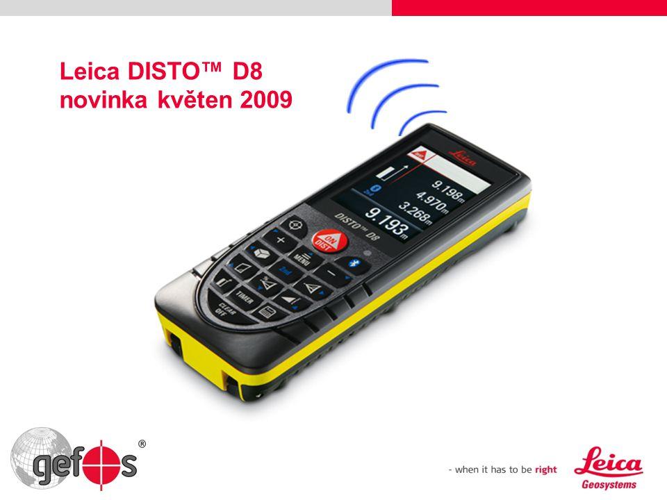 Leica DISTO™ D8 novinka květen 2009