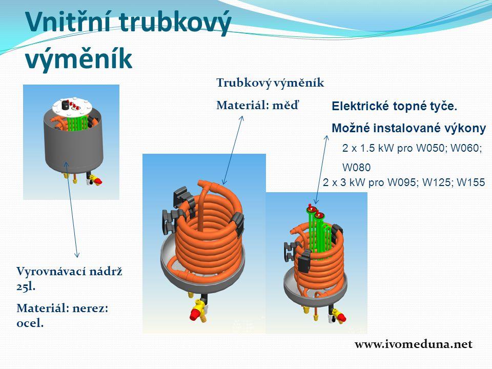 Vnitřní trubkový výměník Vyrovnávací nádrž 25l.Materiál: nerez: ocel.