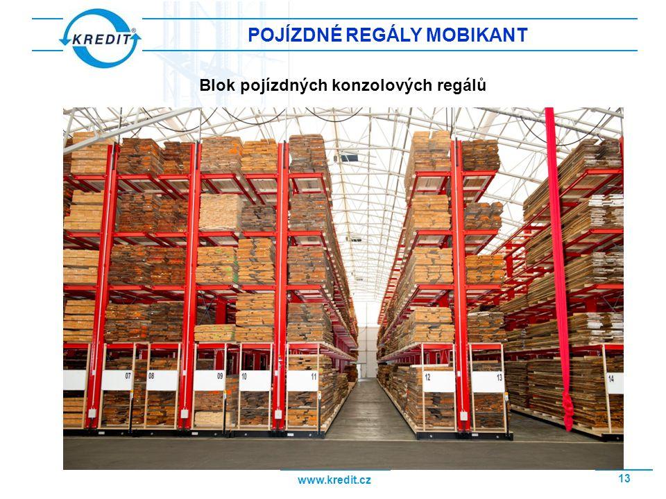 www.kredit.cz 14 POJÍZDNÉ REGÁLY MOBIKANT Pojízdný konzolový regál založený řezivem