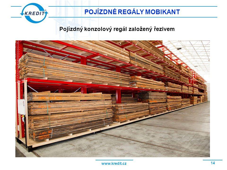 www.kredit.cz 15 POJÍZDNÉ REGÁLY MOBIKANT Využití prostoru a vysoká hustota zaskladnění v regálech MOBIKANT