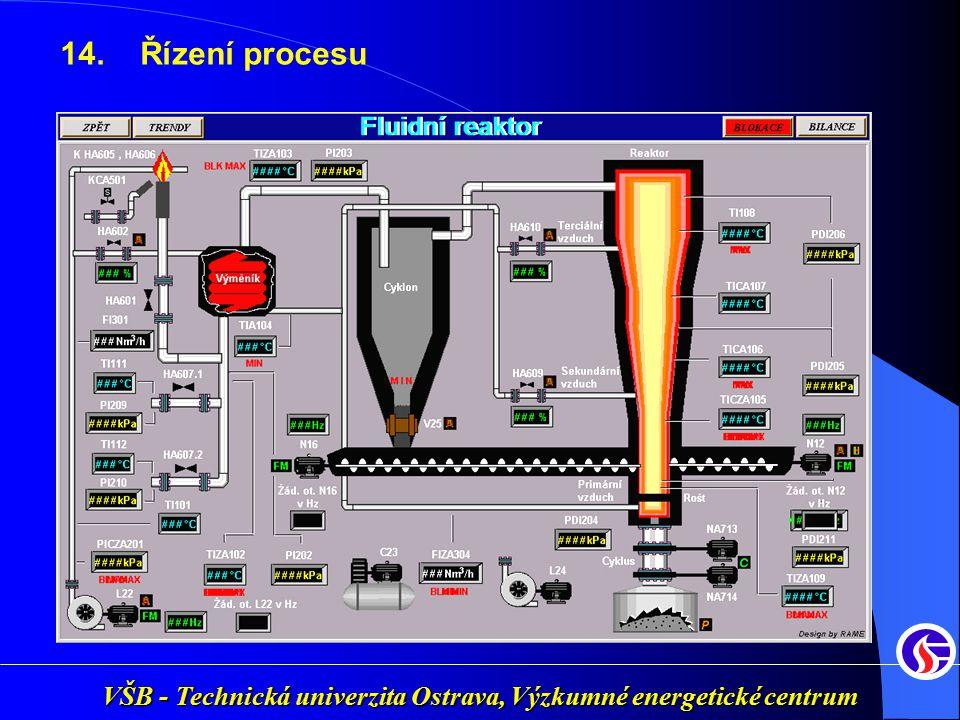 VŠB - Technická univerzita Ostrava, Výzkumné energetické centrum 14. Řízení procesu