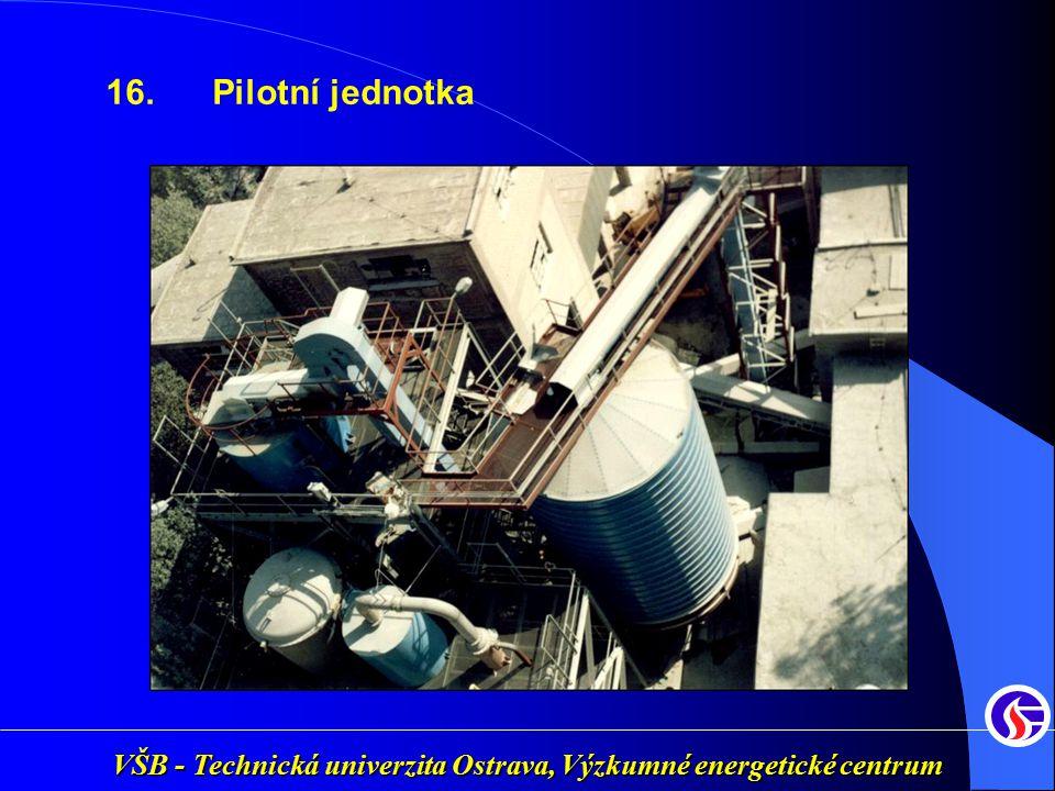 VŠB - Technická univerzita Ostrava, Výzkumné energetické centrum 16. Pilotní jednotka
