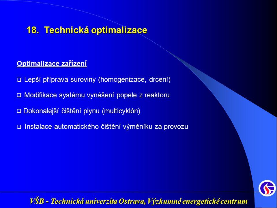 VŠB - Technická univerzita Ostrava, Výzkumné energetické centrum Optimalizace zařízení  Lepší příprava suroviny (homogenizace, drcení)  Modifikace s
